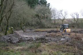Picture of clearance work at Drumore Pond, December 2009, 24KB